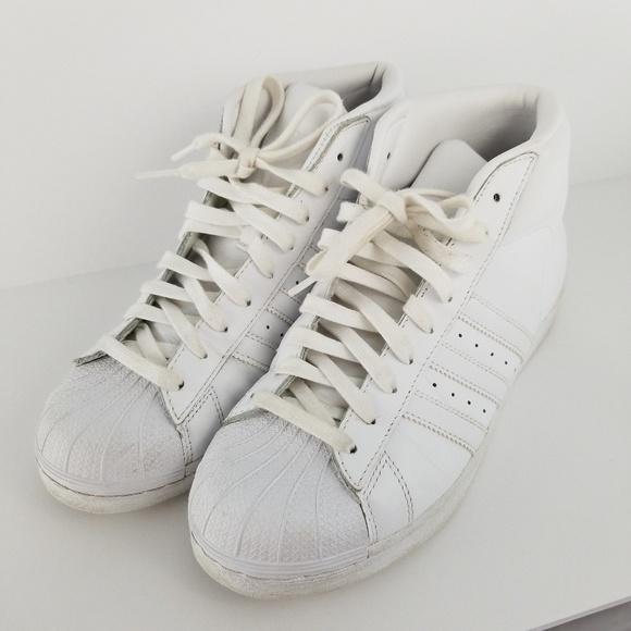 on sale 239e2 c2a70 Adidas Originals Superstar High Tops sz 7.5 mens